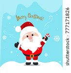 friendly santa claus with a... | Shutterstock .eps vector #777171826