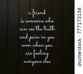 friendship quote for best friend | Shutterstock . vector #777173158
