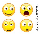 smiley expressions | Shutterstock .eps vector #77717371