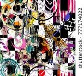 seamless geometric pattern... | Shutterstock .eps vector #777174022