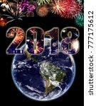happy new year   elements of... | Shutterstock . vector #777175612