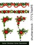vector christmas border | Shutterstock .eps vector #777176695