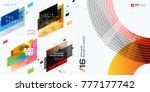 abstract vector design elements ... | Shutterstock .eps vector #777177742
