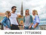 friends having fun | Shutterstock . vector #777183802