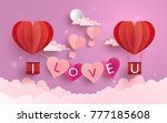 illustration symbol of love... | Shutterstock .eps vector #777185608