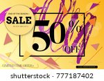 sale advertisement banner with... | Shutterstock .eps vector #777187402