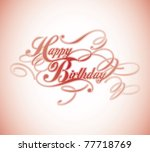 happy birthday classic... | Shutterstock .eps vector #77718769