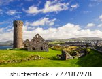 peel castle constructed by... | Shutterstock . vector #777187978