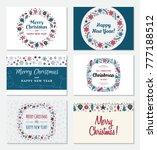set of christmas greeting card... | Shutterstock .eps vector #777188512