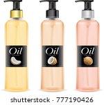 coconut oil bottle.illustration ...   Shutterstock .eps vector #777190426