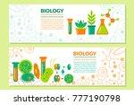 scientific biological banner.... | Shutterstock .eps vector #777190798