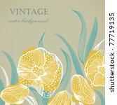 Vintage Floral Card In Pastel...