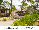 camping houses on the campsite   Shutterstock . vector #777191542
