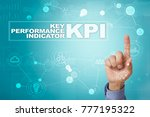 kpi. key performance indicator. ... | Shutterstock . vector #777195322