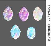 crystals  illustration vector | Shutterstock .eps vector #777196078