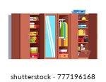 home dressing room wardrobe.... | Shutterstock .eps vector #777196168