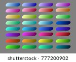 set of elegant blank buttons... | Shutterstock .eps vector #777200902
