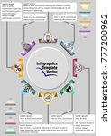 infographic template abstract... | Shutterstock .eps vector #777200962