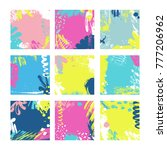 set of square cards with...   Shutterstock .eps vector #777206962