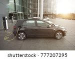 power supply for electric car... | Shutterstock . vector #777207295