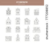 collection of buildings made in ... | Shutterstock .eps vector #777208852