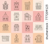 collection of buildings made in ... | Shutterstock .eps vector #777209125