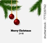 christmas background with... | Shutterstock .eps vector #777220762