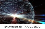 data transmission channel.... | Shutterstock . vector #777221572