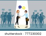 negotiations between business... | Shutterstock .eps vector #777230302