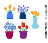 spring flowers. cute vector...   Shutterstock .eps vector #777231085