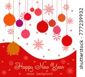 new year vector greeting card ... | Shutterstock .eps vector #777239932