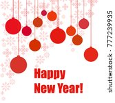 new year vector greeting card ... | Shutterstock .eps vector #777239935