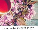 beautiful spring background...   Shutterstock . vector #777241096
