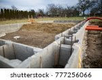 foundations of the house ... | Shutterstock . vector #777256066