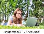 beautiful caucasian female... | Shutterstock . vector #777260056