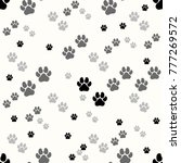 paw print seamless. traces of...   Shutterstock .eps vector #777269572