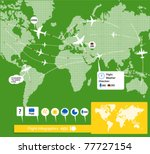 flight infographics. civil... | Shutterstock .eps vector #77727154