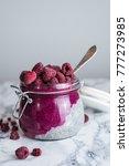 pink vegan paleo chia pudding   Shutterstock . vector #777273985
