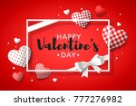happy valentine's day greeting... | Shutterstock .eps vector #777276982