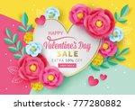 valentines day sale banner... | Shutterstock .eps vector #777280882