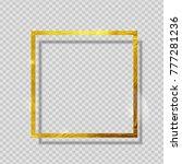 gold paint glittering textured... | Shutterstock .eps vector #777281236