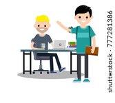 cartoon flat illustration   a... | Shutterstock . vector #777281386