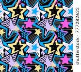 star shapes graffiti seamless...   Shutterstock .eps vector #777282622