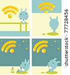 web icon set with cute rabbit... | Shutterstock .eps vector #77728456