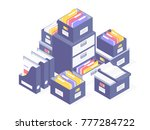 office paperwork. office paper... | Shutterstock .eps vector #777284722