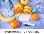 healthy lifestyle concept with ... | Shutterstock . vector #777287182