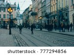 blurred old city background ... | Shutterstock . vector #777294856