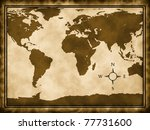 word map on old paper | Shutterstock . vector #77731600