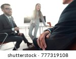blurred image of business team... | Shutterstock . vector #777319108