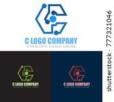 abstract c letter logo design... | Shutterstock .eps vector #777321046